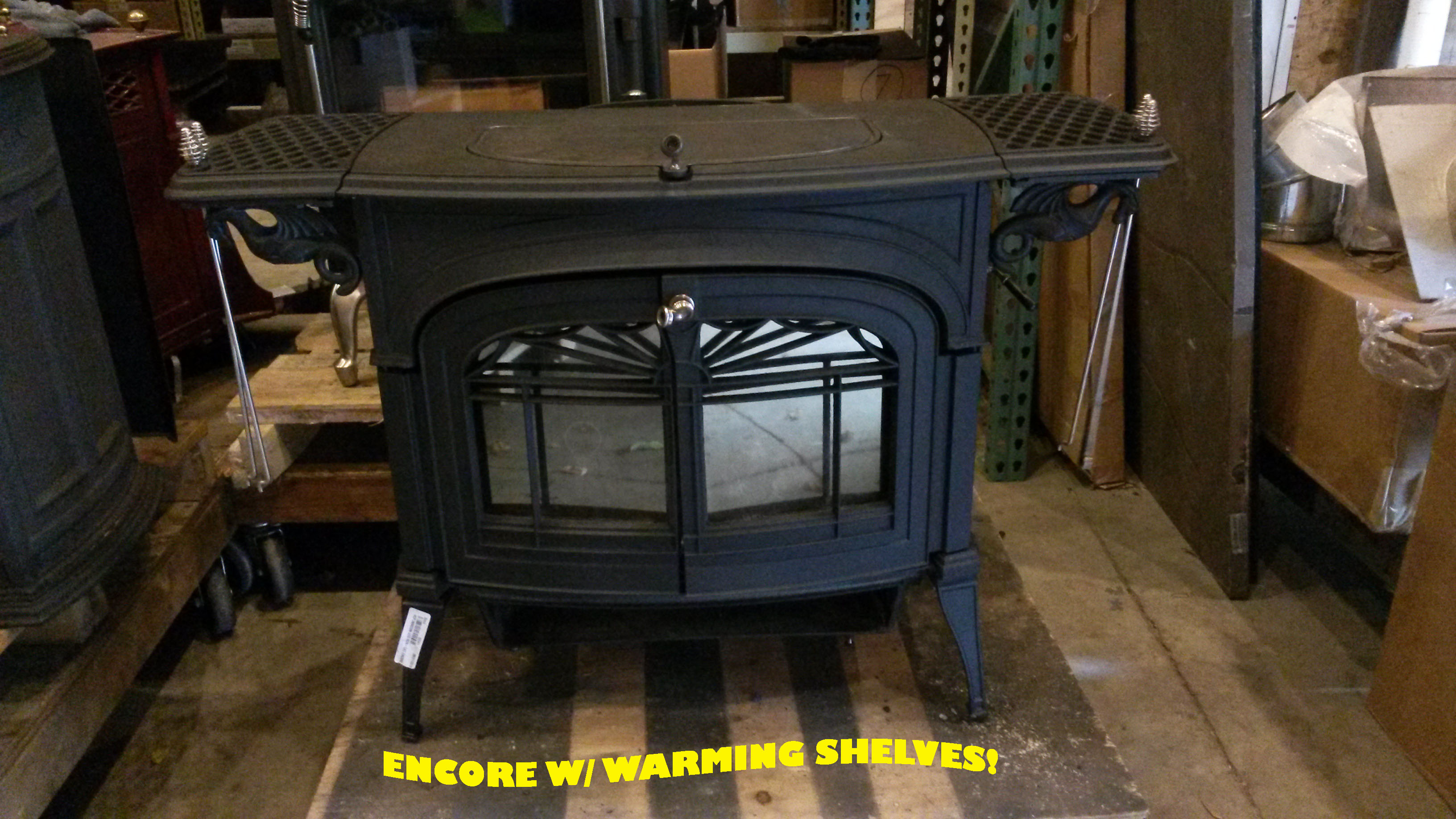 Vermont Castings Used Encore w/ Warming Shelves
