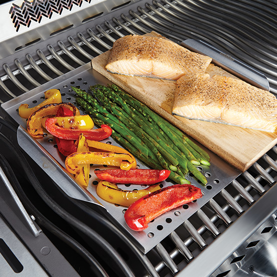 Napoleon Stainless Steel Multi-Functional Grill Topper w/ Cedar Plank